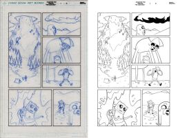 ADVENTURE TIME ANNUAL pencil to ink 2 by dfridolfs