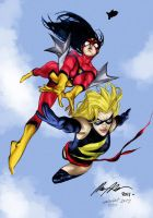 Ms. Marvel and Spider Woman by Rafael Albuquerque by mdavidct