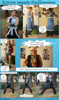 Korra meets Halloween by craftysorceress