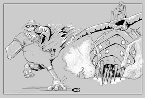 nausicaa of the valley of the wind chase by Carlhenric