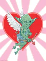 Yoda Cupid Valentine's Day card by McQuade