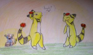 Silly Ampharos by SilverMistSE