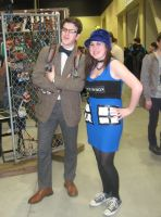 The Tardis and her doctor by SpideyzGirl