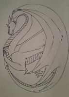 Oval Dragon by Moonblaster13