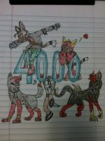 4,000 Pageviews! by ThrillerWolf