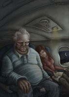 Sleeping Next to the Man on the Plane by RedCoaster