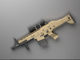 FN SCAR-H battle rifle: Top view by Samouel
