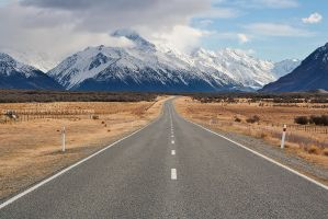 The Road to Mount Cook by GregArps