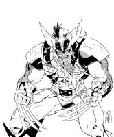 Battle Wolverine Commission by DamageArts