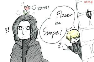 HP-Flower on Snape by feather0524