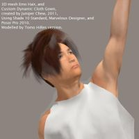 3D Emo Hair + Thespian Gown by ibr-remote