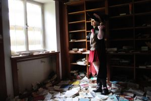 APH - Witch Prussia - forgotten library by Prussiya
