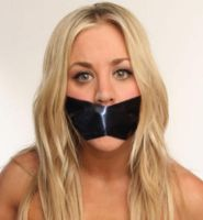 Kaley Cuoco Tape Gagged by FakeGaggedCelebrity2