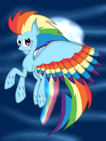.:Rainbow Dash Rainbow Power:. by riky9797
