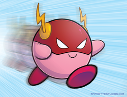 Kirby - Fast as the Flash by marcotte