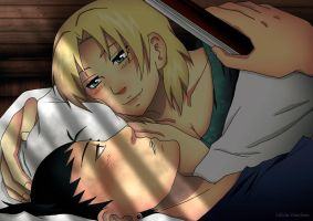 .::Waking up Together::. ShikaTema by Lilicia-Onechan