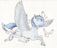 Pegasus Dove (fan art of Kilala97) by Lady-Limule