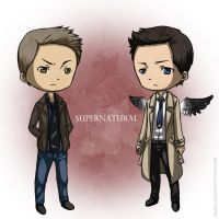 Supernatrual: Dean and Castiel by Angels-Leaf