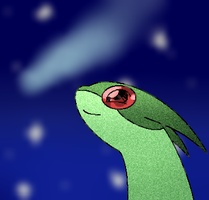 Flygon Star Gazing by BubbleLum