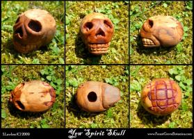 Yew Spirit Skull Fetish by Lolair