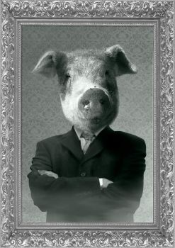 portrait of a pig by Fi4