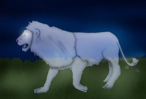 Ghost Lion Icon by Silverlion