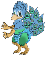 Prasilla the Peacock by BlazeHeartPanther