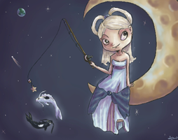 Fishing On The Moon by DreamCatcher-amm