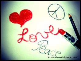 Love and Peace by cata-angel