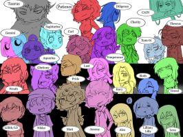 Ask The SinSeries Cast by Chibi-Works
