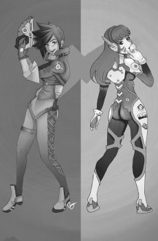Tracer and D.va by Chtitexxpeste