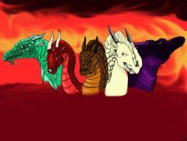 The False Dragonets of Destiny - Wings of Fire by DragonPrinc3ss