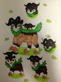 Skiddo And Gogoat by Zweicrusaders