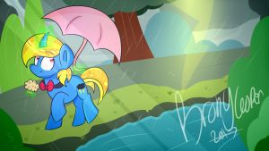 Raining (Point Commission) by BronyCooper