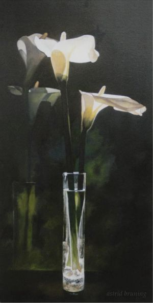 Like Candles in the Window-Oil by AstridBruning
