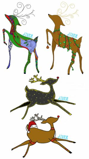 Adoptable Christmas Deer 3/4 OPEN by J-Jinx-x