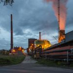 Coke plant at night by RafalBigda