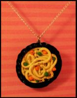 Bowl O' Noodles -- Necklace by poketheyolk