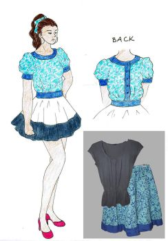 Project Runway Challenge 2: Clothes Off Your Back by megpie252