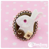 Follow the White Rabbit mini Ring by CuteMoonbunny