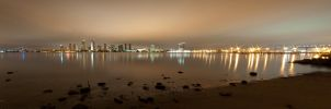 San Diego Skyline Pano by Creative--Dragon
