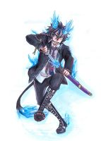Ao no Exorcist by Chanberry