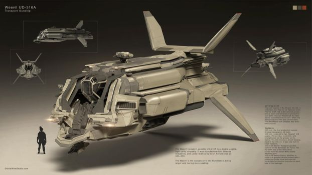 Transport Gunship by Long-Pham