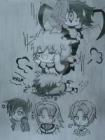 I Miss You Judai~!!!! - One Group Chibi by MistressChi08