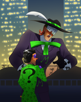 Riddler and music meister making plans by pink-ninja