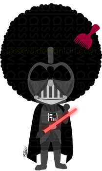 Afro Vader by glasskiwi