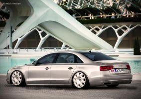 Audi A8 lowrider by Clipse89