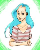 Blue Haired Girl by i-like-sporks