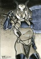 Darkchylde Sketch Card by RichardCox
