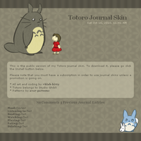 Totoro Journal Skin by ShinyCation